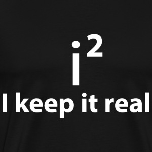 KEEP IT REAL - STAY FAITHFUL Sweaters - Mannen Premium T-shirt
