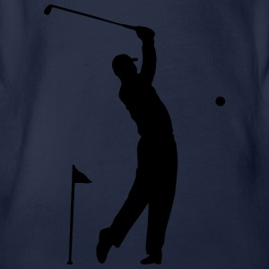 Golf - Hole in One atleet Scene Shirts - Baby bio-rompertje met korte mouwen
