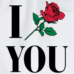 I Love You - Rose T-shirts - Gymtas