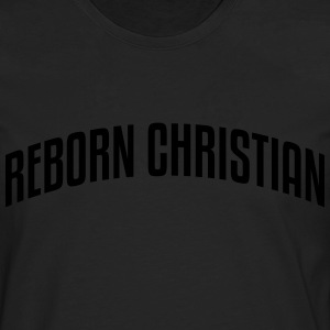 reborn christian stylish arched text log - Men's Premium Longsleeve Shirt