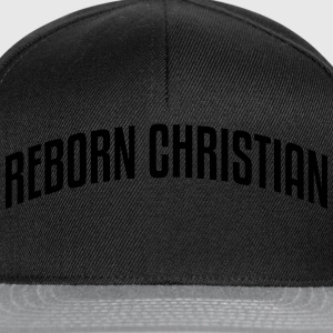 reborn christian stylish arched text log - Snapback Cap