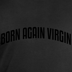 born again virgin stylish arched text lo - Men's Sweatshirt by Stanley & Stella