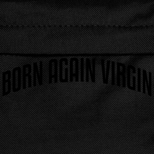 born again virgin stylish arched text lo - Kinder Rucksack
