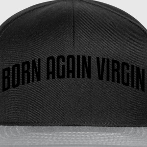 born again virgin stylish arched text lo - Snapback Cap