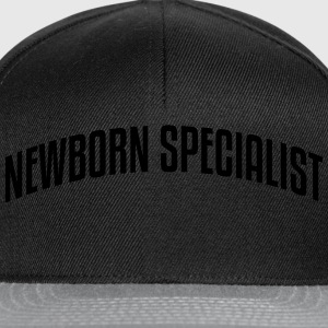 newborn specialist stylish arched text l - Snapback Cap