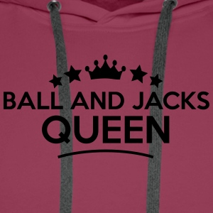 ball and jacks queen stars - Männer Premium Hoodie