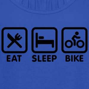 Eat sleep bike T-skjorter - Singlet for kvinner fra Bella