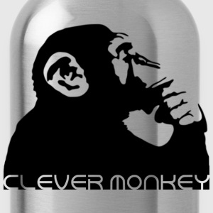 clever monkey Shirts - Water Bottle