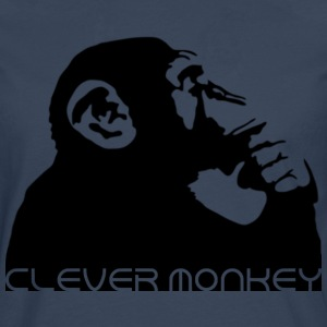 clever monkey Shirts - Men's Premium Longsleeve Shirt