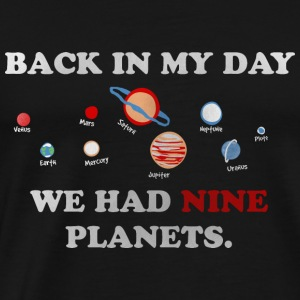 IN my day, we had 9 planets Langærmede t-shirts - Herre premium T-shirt