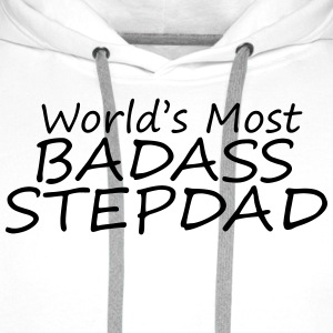 world's most badass stepdad T-Shirts - Men's Premium Hoodie