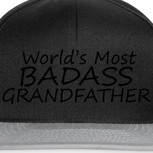 world's most badass grandfather T-Shirts - Snapback Cap