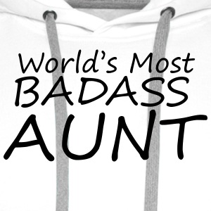 worlds most badass aunt T-Shirts - Men's Premium Hoodie