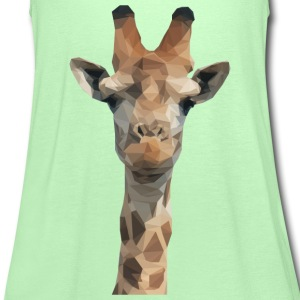 Low Poly Giraffe T-Shirts - Women's Tank Top by Bella