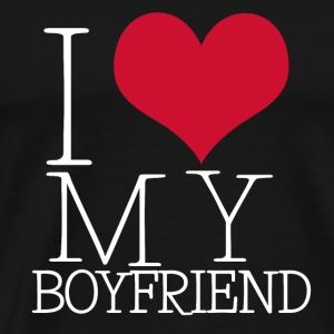 i love my boy Manches longues - T-shirt Premium Homme