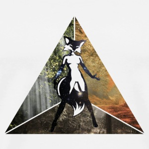 sexy fox in triangle Buttons - Men's Premium T-Shirt