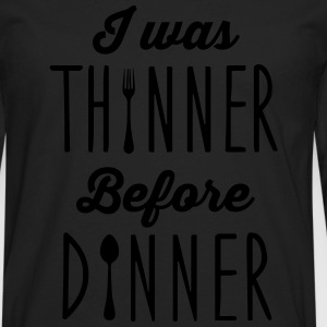 I was thinner before dinner Topper - Premium langermet T-skjorte for menn