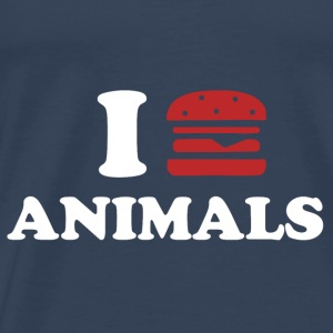 I LOVE ANIMALS Toppar - Premium-T-shirt herr