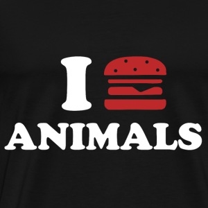 I LOVE ANIMALS Tröjor - Premium-T-shirt herr