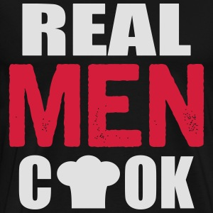 real men cook Langærmede t-shirts - Herre premium T-shirt