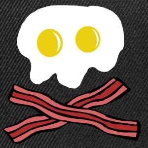 Eggs and Bacon skull Long Sleeve Shirts - Snapback Cap