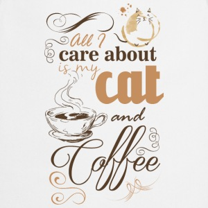 All i care about is my coffee and cat T-shirts - Förkläde
