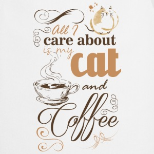All i care about is my coffee and cat T-shirts - Forklæde