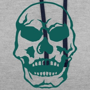 Death head skull 250618 T-Shirts - Contrast Colour Hoodie