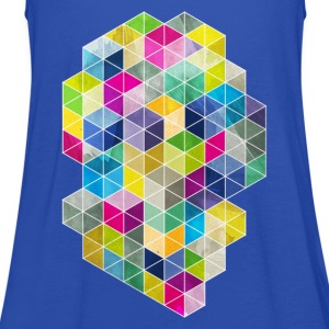 Navy Dirty Polygon T-Shirts - Women's Tank Top by Bella