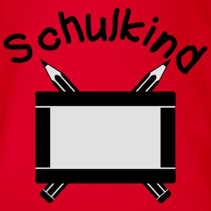 Schulkind - Dein Name, dein Text T-Shirts - Baby Bio-Kurzarm-Body
