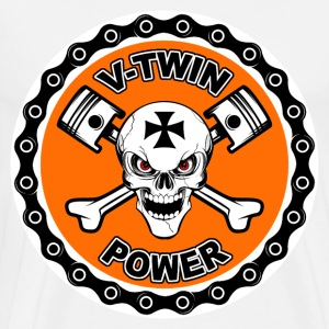 V-Twin Power 10 Manches longues - T-shirt Premium Homme