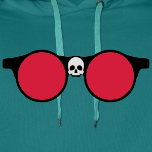 Sunglasses skull dead head shape 24064 T-Shirts - Men's Premium Hoodie