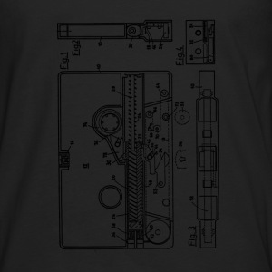 Blueprint of a cassette - Vintage Music Design T-Shirts - Men's Premium Longsleeve Shirt