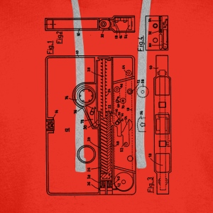 Blueprint of a cassette - Vintage Music Design T-Shirts - Men's Premium Hoodie
