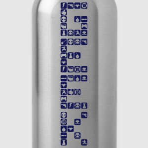 Geek shape icon word 18063 T-Shirts - Water Bottle