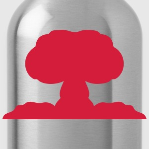 Atomic nuclear explosion icon 21706 Shirts - Water Bottle
