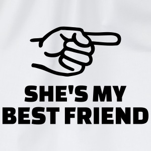 She's my best friend T-Shirts - Turnbeutel