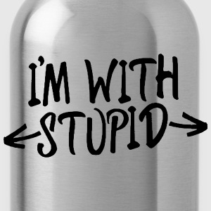 I'M WITH STUPID - Trinkflasche