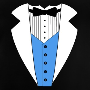 TUXEDO TUXEDO SUIT SHIRT BLUE VEST Manga larga - Camiseta bebé