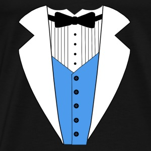 TUXEDO TUXEDO SUIT SHIRT BLUE VEST Shirts - Men's Premium T-Shirt