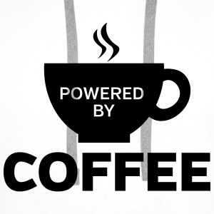 Powered By Coffee Tops - Mannen Premium hoodie