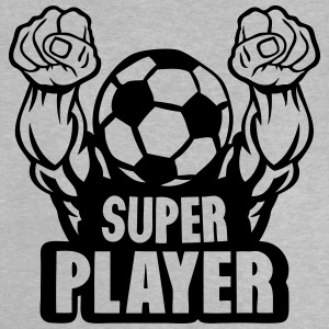 football soccer super play muscular arm Shirts - Baby T-Shirt