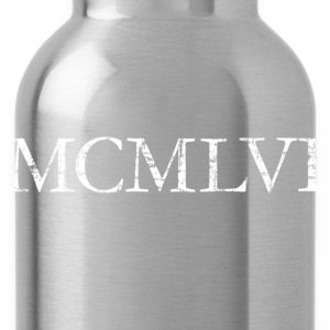MCMLVI born in 1956 Roman birthday year T-Shirts - Water Bottle