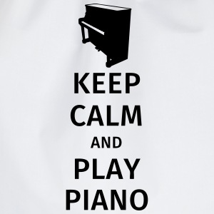 keep calm and play piano Magliette - Sacca sportiva