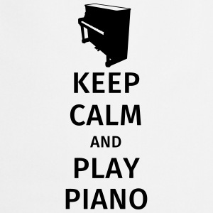 keep calm and play piano T-shirts - Förkläde