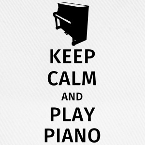 keep calm and play piano T-shirts - Basebollkeps