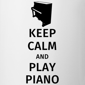 keep calm and play piano Magliette - Tazza