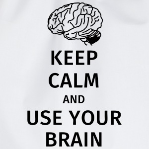 keep calm and use your brain Tee shirts - Sac de sport léger