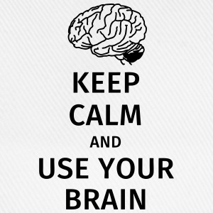 keep calm and use your brain Tee shirts - Casquette classique