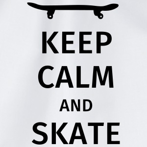 keep calm and skate T-shirts - Gymnastikpåse